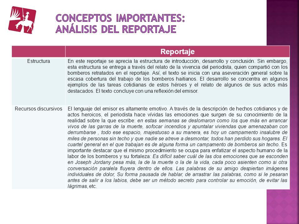 Reportaje EstructuraEn este reportaje se aprecia la estructura de introducción, desarrollo y conclusión. Sin embargo, esta estructura se entrega a tra