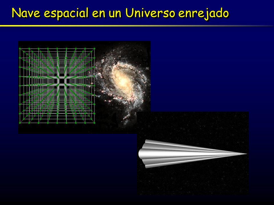 Nave espacial en un Universo enrejado