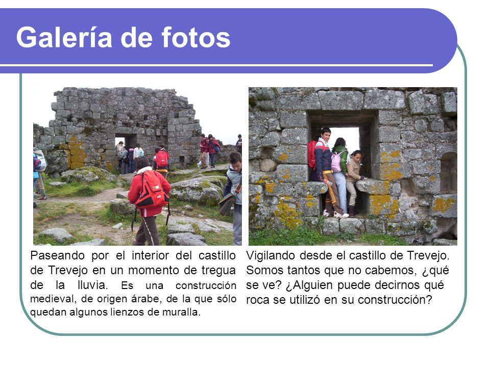 Galería de fotos Paseando por el interior del castillo de Trevejo en un momento de tregua de la lluvia. Es una construcción medieval, de origen árabe,