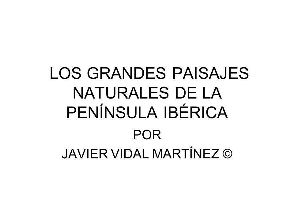 LOS GRANDES PAISAJES NATURALES DE LA PENÍNSULA IBÉRICA POR JAVIER VIDAL MARTÍNEZ ©