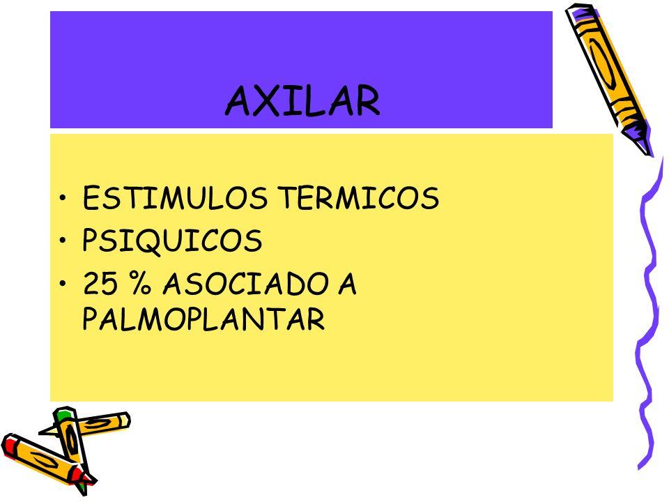 AXILAR ESTIMULOS TERMICOS PSIQUICOS 25 % ASOCIADO A PALMOPLANTAR