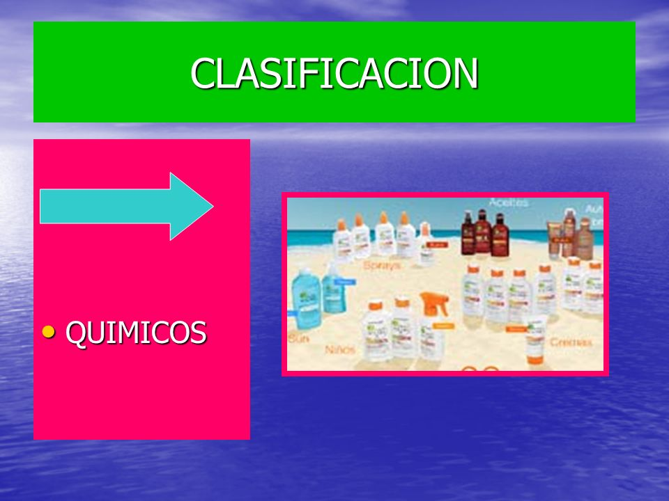 CLASIFICACION FISICOS FISICOS QUIMICOS QUIMICOS