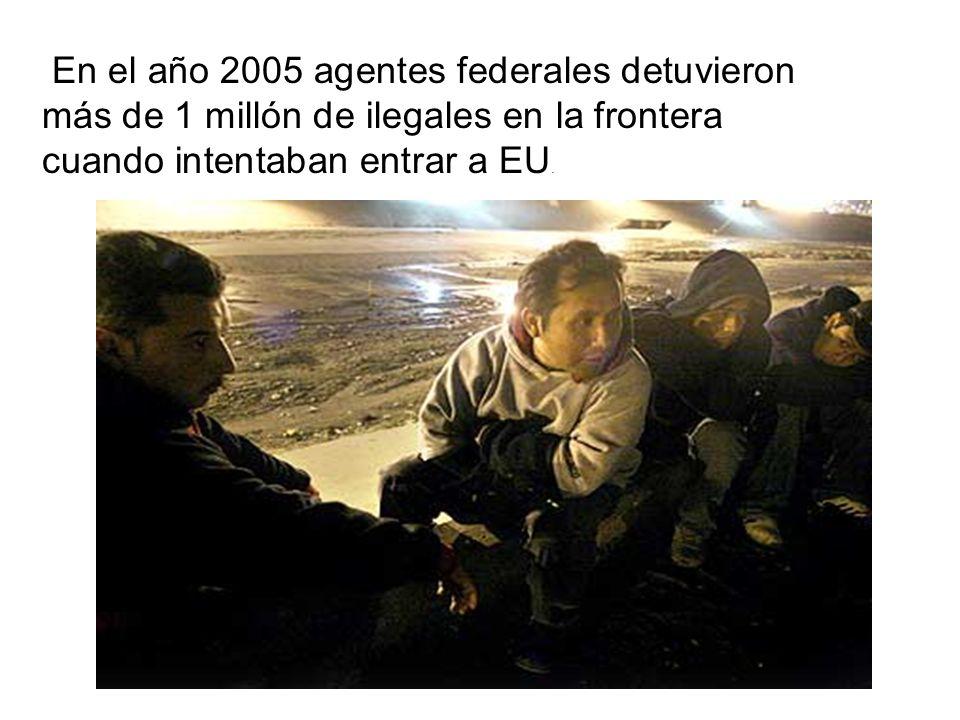 En el año 2005 agentes federales detuvieron más de 1 millón de ilegales en la frontera cuando intentaban entrar a EU.