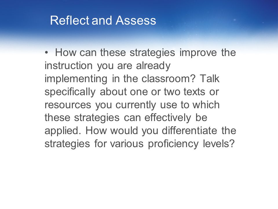 89 Workshop Guiding Question What instructional strategies can teachers use to ensure that through the integration of reading, students are successful