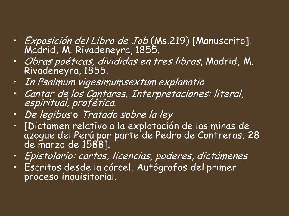 Exposición del Libro de Job (Ms.219) [Manuscrito].