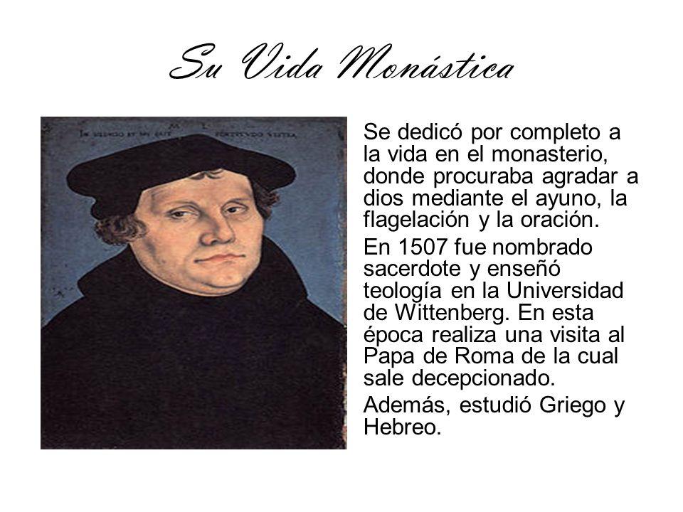 Las 95 Tesis En 1517,Martín Lutero expuso sus 95 tesis en las que cuestionaba las indulgencias papales y obligaba a las iglesia a volver a la enseñanza de la Biblia.