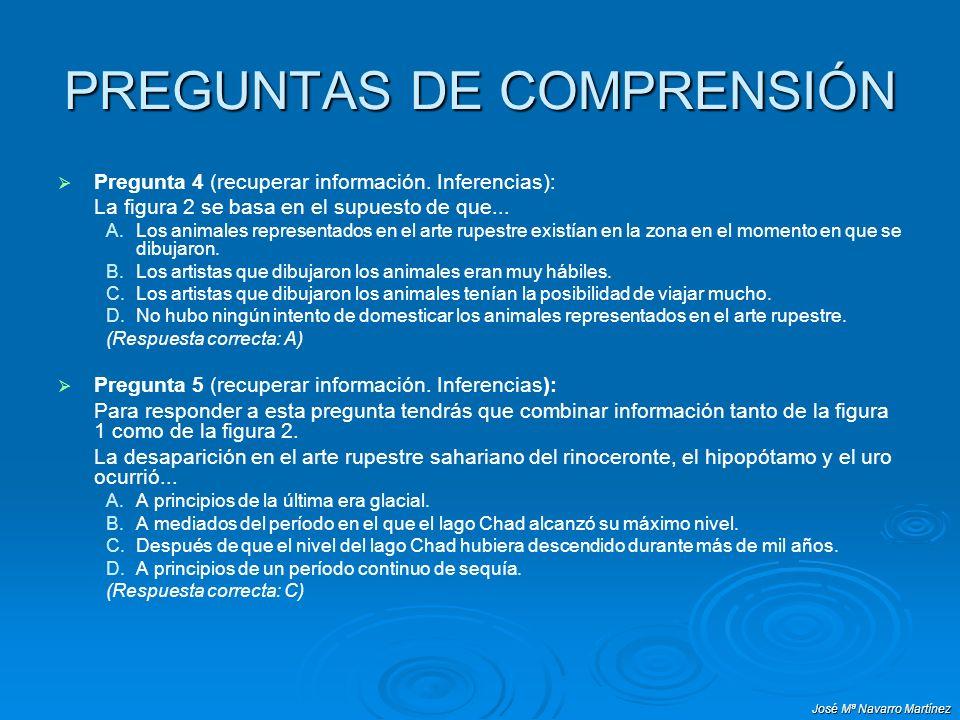 José Mª Navarro Martínez PREGUNTAS DE COMPRENSIÓN Pregunta 4 (recuperar información. Inferencias): La figura 2 se basa en el supuesto de que... A. A.L