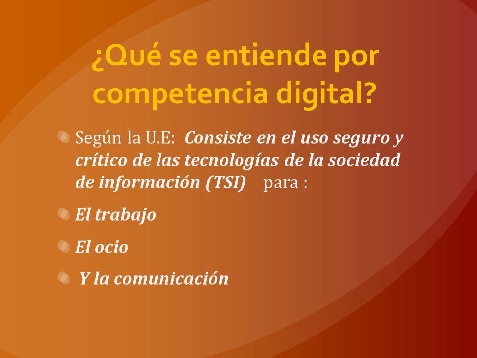 Las competencias básicas en TIC se basan en: El uso de ordenadores para obtener, evaluar, almacenar, producir, presentar e intercambiar información, y comunicarse y participar en redes de colaboración a través de Internet