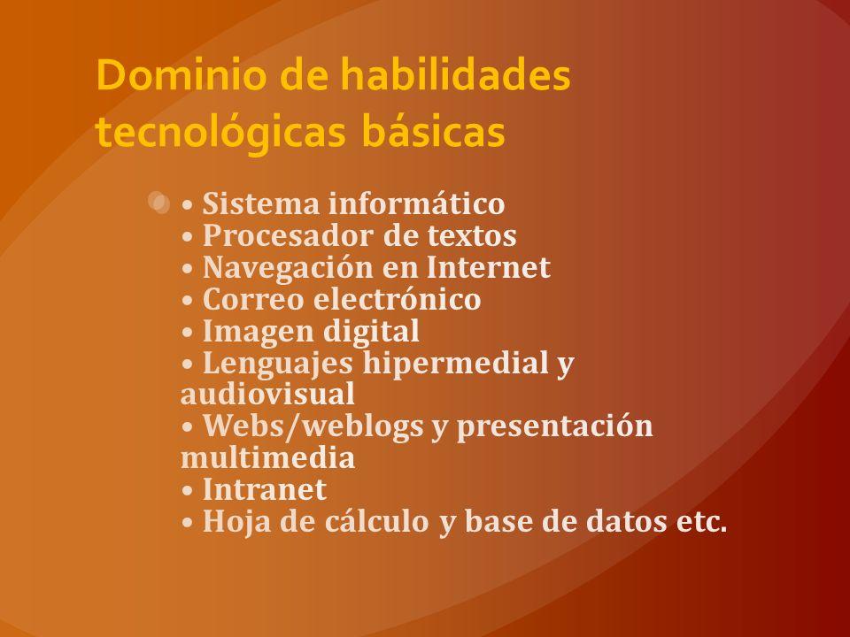 Dominio de habilidades tecnológicas básicas