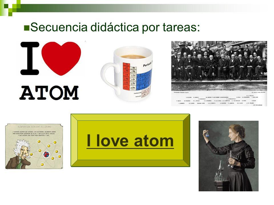 I love atom Secuencia didáctica por tareas: