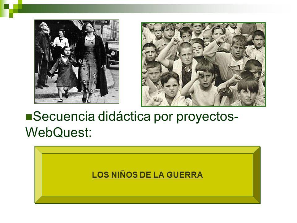 LOS NIÑOS DE LA GUERRA Secuencia didáctica por proyectos- WebQuest:
