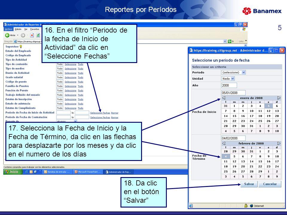 Reportes por Períodos 16.