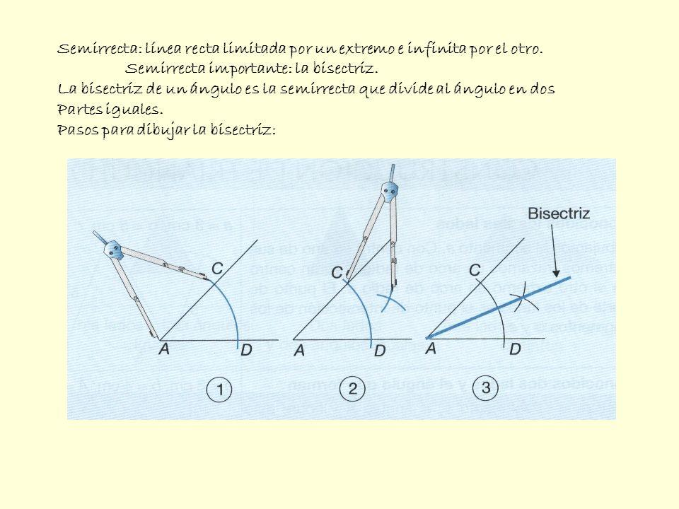 Triángulo: polígono formado por 3 lados y 3 ángulos.
