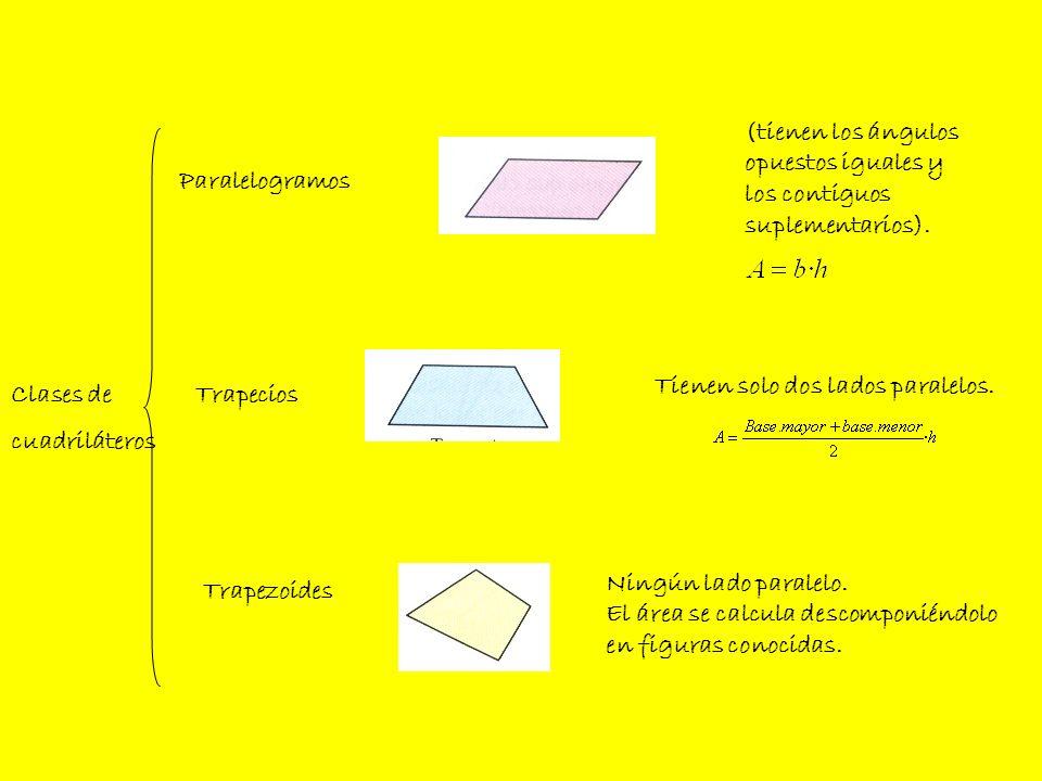 Cuadrado Paralelogramos Rectángulo Rombo Romboide 4 lados iguales.