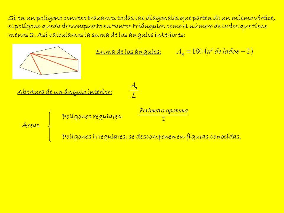 Circunferencia y círculo La longitud de una circunferencia viene dada por la fórmula: La longitud de un arco de una circunferencia se calcula mediante la regla de tres: El área del círculo se calcula: