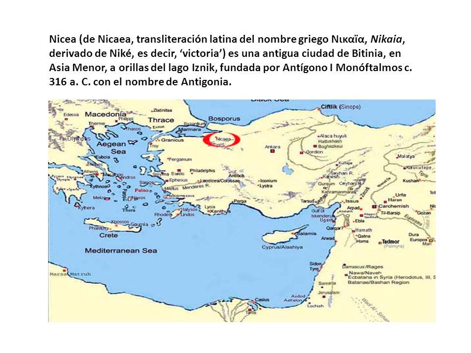 Nicea (de Nicaea, transliteración latina del nombre griego Νικαïα, Nikaia, derivado de Niké, es decir, victoria) es una antigua ciudad de Bitinia, en