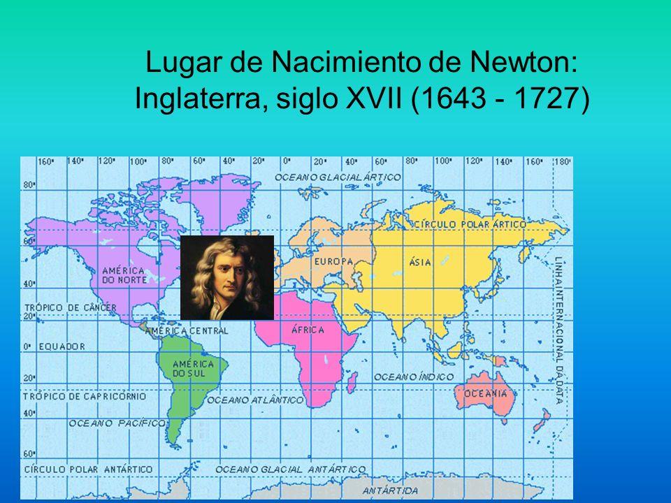 Lugar de Nacimiento de Newton: Inglaterra, siglo XVII (1643 - 1727)