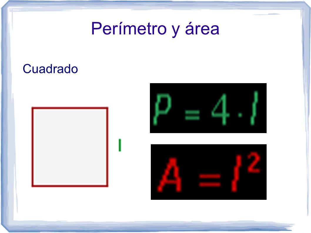 Perímetro y área Cuadrado