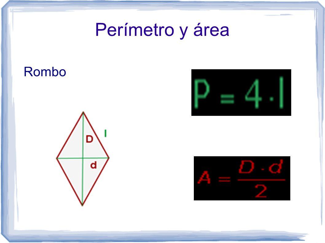 Perímetro y área Rombo