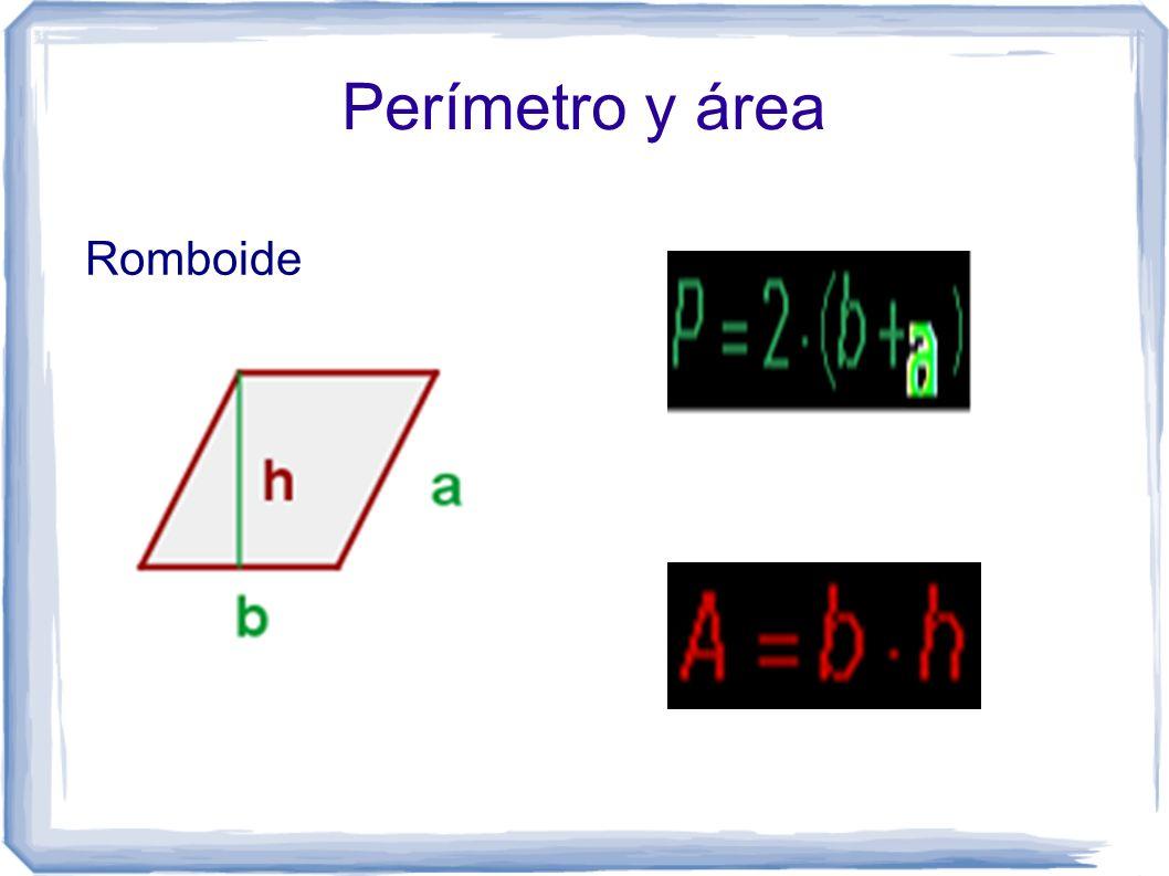 Perímetro y área Romboide