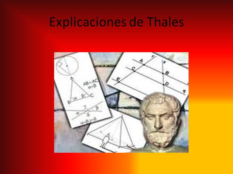 Explicaciones de Thales
