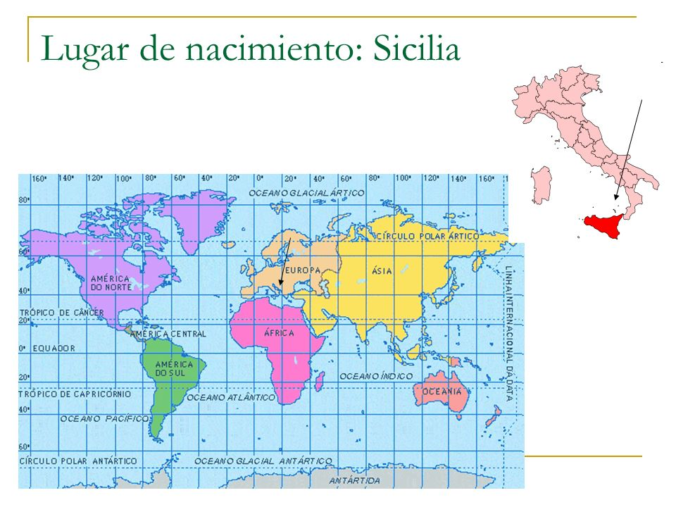 Lugar de nacimiento: Sicilia