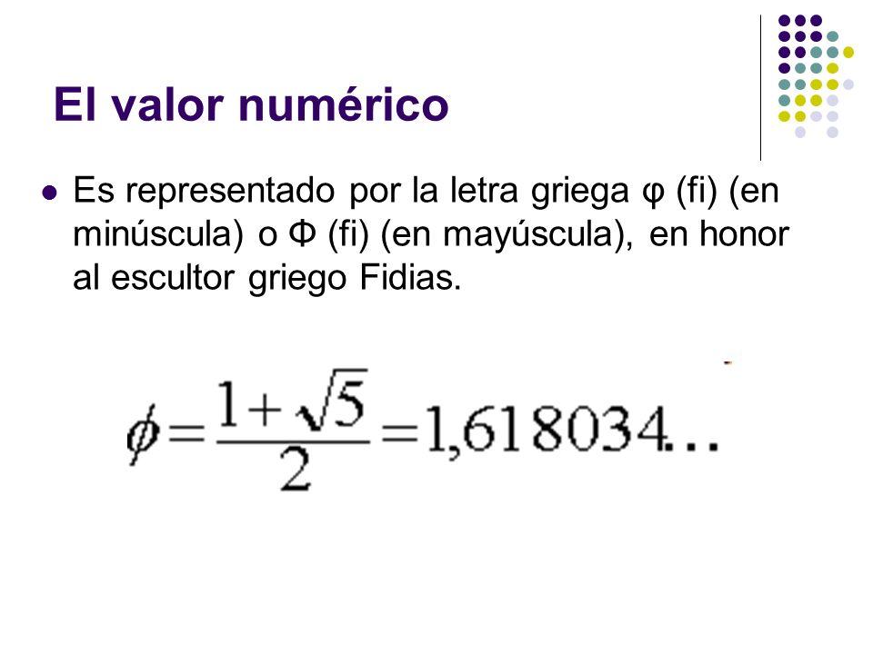 Es un número algebraico irracional (decimal infinito no periódico) que tiene muchas propiedades interesantes y fue descubierto en la antigüedad, no como unidad sino como relación o proporción entre segmentos de rectas.
