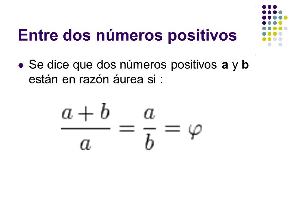 Para obtener ese valor a partir de la anterior razón considera lo siguiente: Que la longitud del segmento más corto b sea 1 y que la de a sea x.