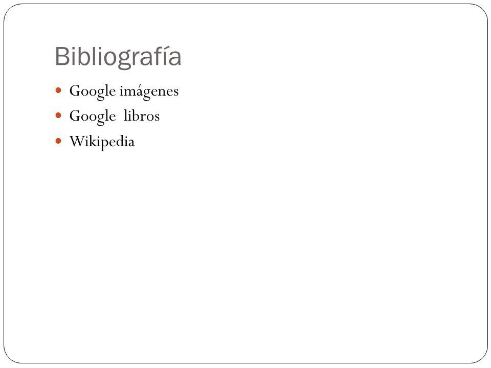 Bibliografía Google imágenes Google libros Wikipedia