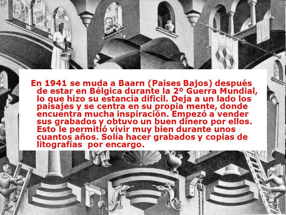 En 1941 se muda a Baarn (Paises Bajos) después de estar en Bélgica durante la 2º Guerra Mundial, lo que hizo su estancia dificil. Deja a un lado los p