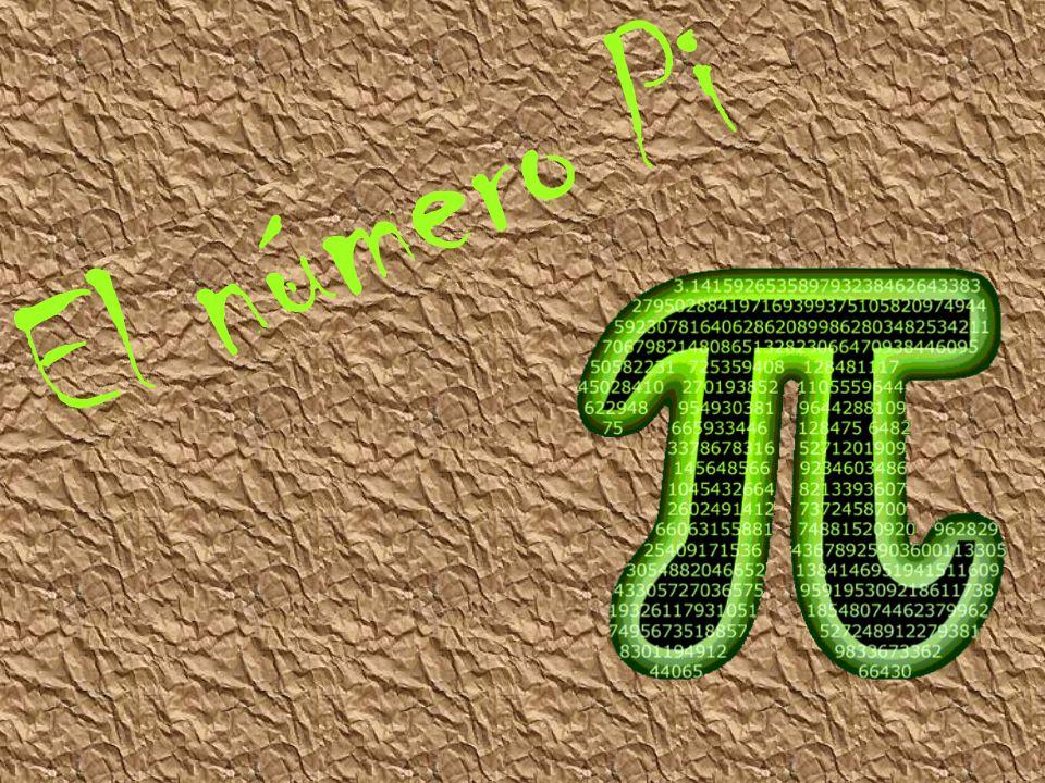 π (pi) es la relación entre la longitud de una circunferencia y su diámetro, en geometría euclidiana.