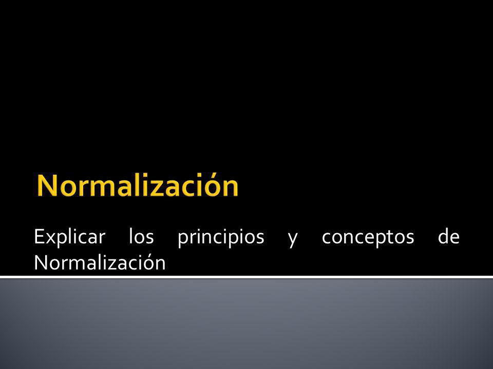 La normalización permite el aseguramiento de la calidad a través de : Simplificación Unificación Especificación