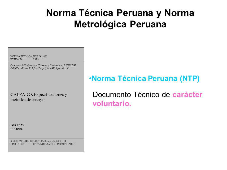NORMA TÉCNICANTP 241.022 PERUANA1999 Comisión de Reglamentos Técnicos y Comerciales -INDECOPI Calle De la Prosa 138, San Borja (Lima 41) Apartado 145