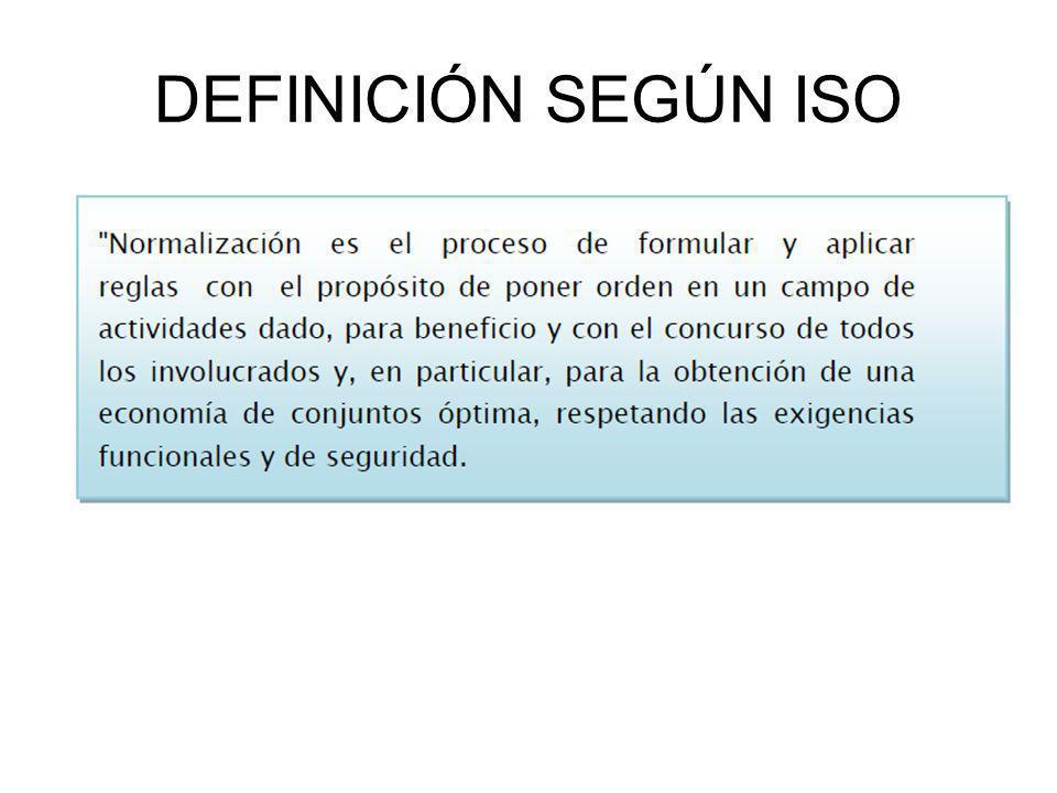 DEFINICIÓN SEGÚN ISO