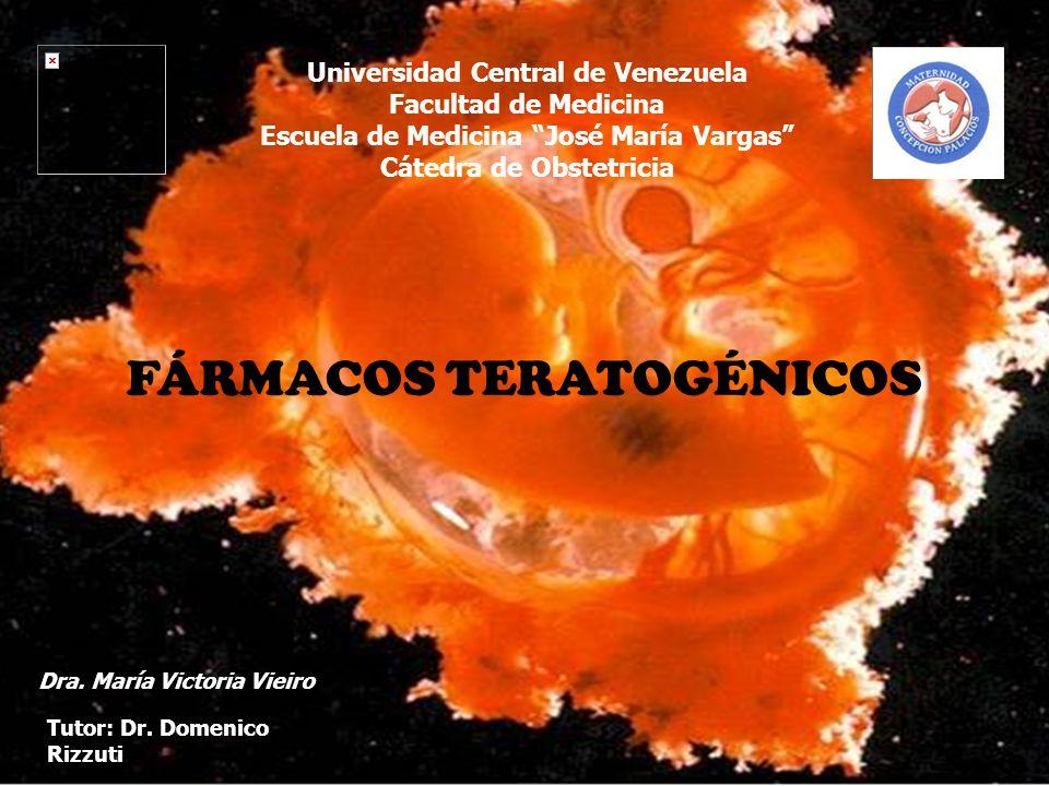 CLASIFICACIÓN DE LOS FÁRMACOS TERATOGÉNICOS CATEGORÍA B Fármacos a los que se les han realizado estudios de reproducción en animales sin observarse efectos negativos.