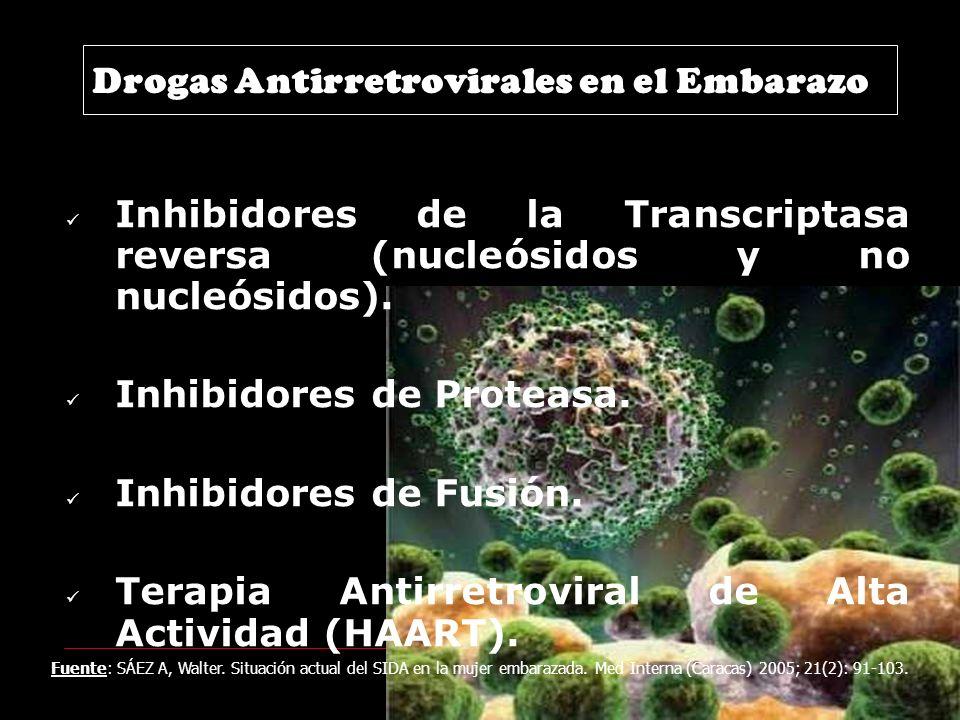 Drogas Antirretrovirales en el Embarazo Inhibidores de la Transcriptasa reversa (nucleósidos y no nucleósidos).
