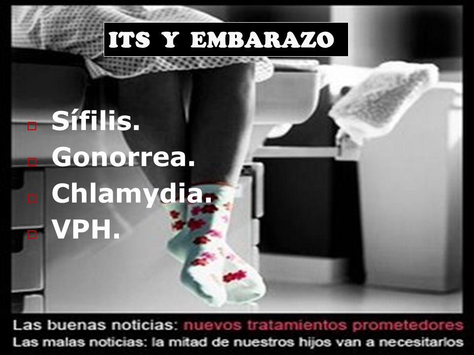 ITS Y EMBARAZO Sífilis. Gonorrea. Chlamydia. VPH.
