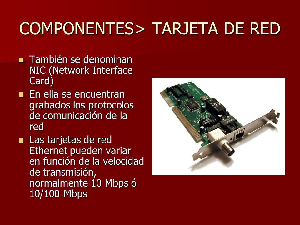 Tarjeta de red o NIC (Network Interface Controller ) RJ45 Coaxial