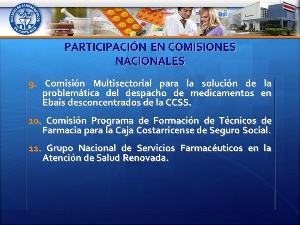 PARTICIPACIÓN EN COMISIONES NACIONALES 9.