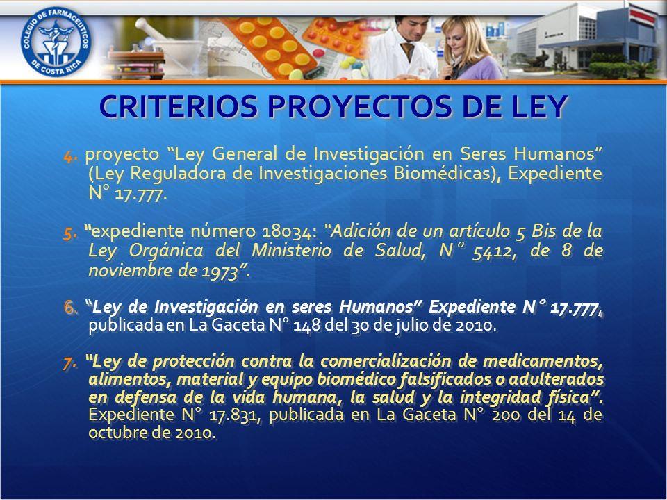 CRITERIOS PROYECTOS DE LEY 4.