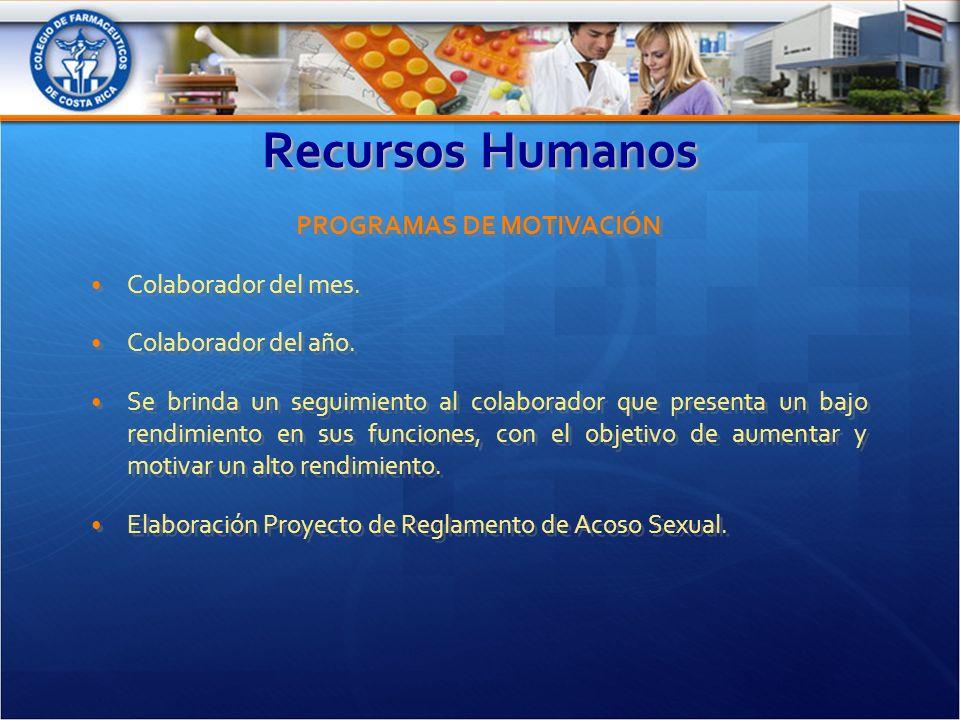 Recursos Humanos PROGRAMAS DE MOTIVACIÓN Colaborador del mes.