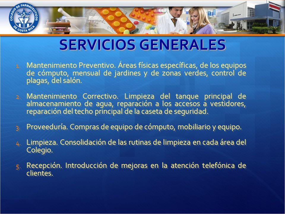 SERVICIOS GENERALES 1. Mantenimiento Preventivo.