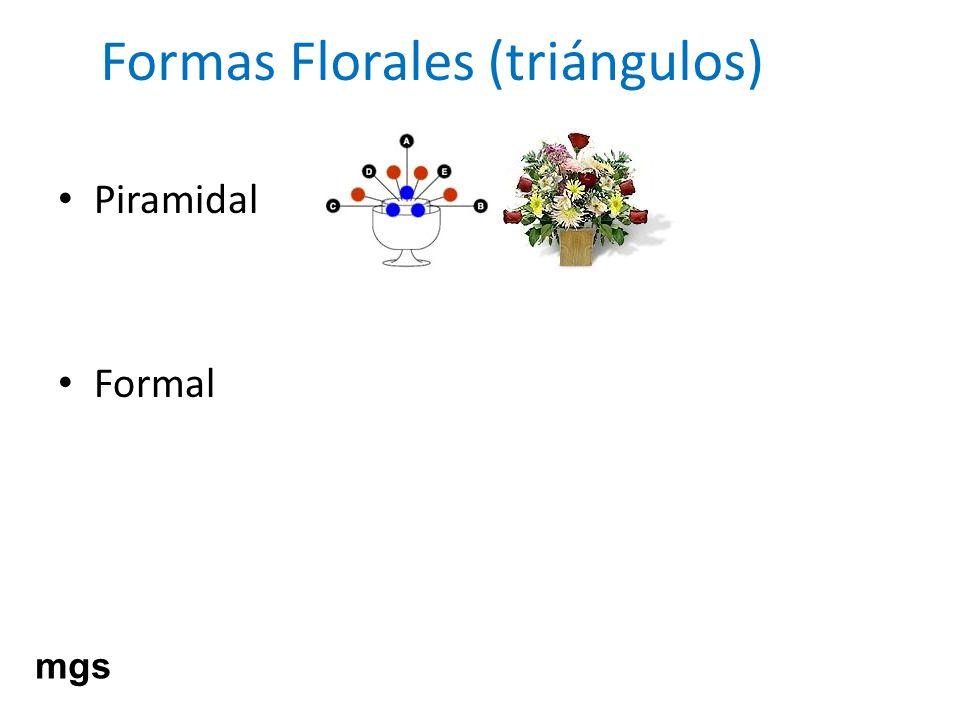 Formas Florales (triángulos) Piramidal Formal mgs