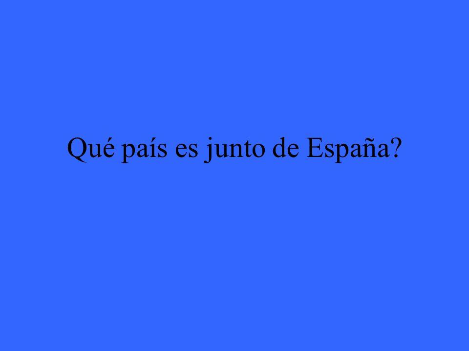 Qué país es junto de España?
