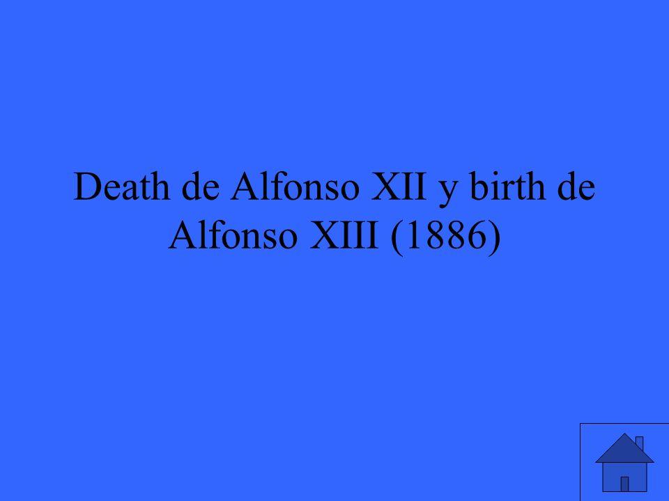 Death de Alfonso XII y birth de Alfonso XIII (1886)