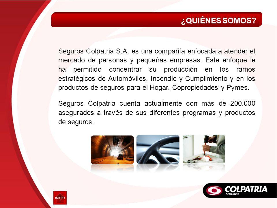 Seguros Colpatria S.A. es una compañía enfocada a atender el mercado de personas y pequeñas empresas. Este enfoque le ha permitido concentrar su produ