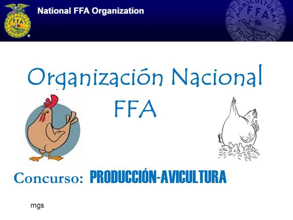 Organización Nacional FFA Concurso: PRODUCCIÓN-AVICULTURA mgs