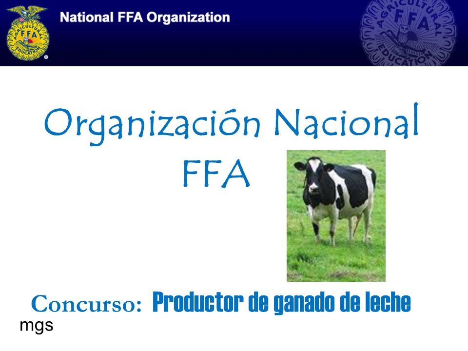 Organización Nacional FFA Concurso: Productor de ganado de leche mgs