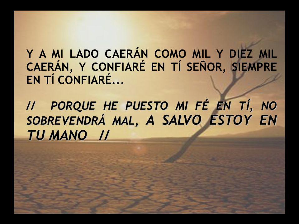 Salmo 91 (3) Y A MI LADO CAERÁN COMO MIL Y DIEZ MIL CAERÁN, Y CONFIARÉ EN TÍ SEÑOR, SIEMPRE EN TÍ CONFIARÉ... // PORQUE HE PUESTO MI FÉ EN TÍ, NO SOBR