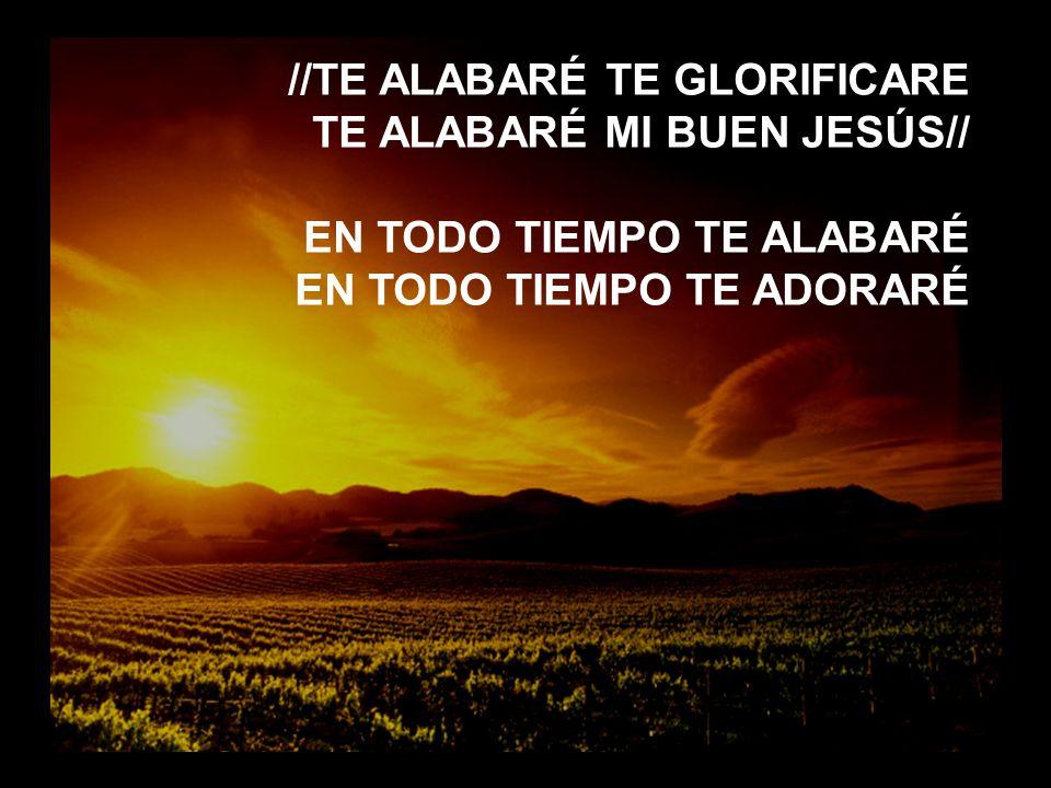 Eres tú (2) //TE ALABARÉ TE GLORIFICARE TE ALABARÉ MI BUEN JESÚS// EN TODO TIEMPO TE ALABARÉ EN TODO TIEMPO TE ADORARÉ
